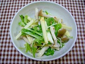 しめじとりんごの水菜サラダ