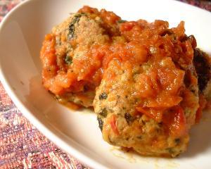 バジルハンバーグのトマト煮