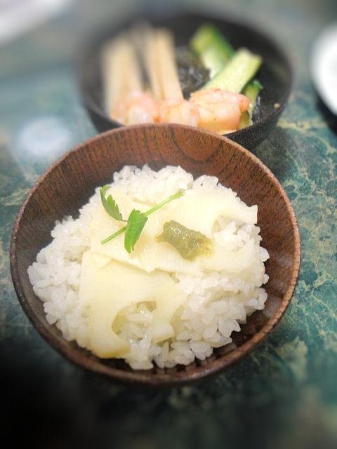柚子胡椒風味の筍ご飯