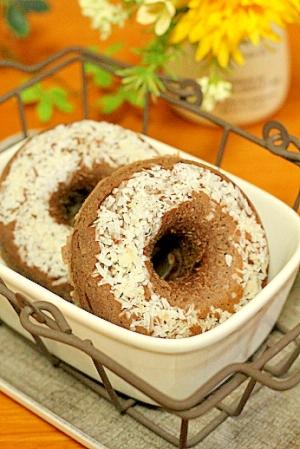 HBで…ココナッツチョコレートの焼きドーナツ