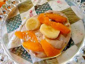 バナナとオレンジのあんヨーグルト