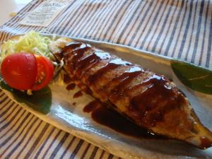 夕食用茄子の肉詰め+お弁当用茄子のハンバーグ