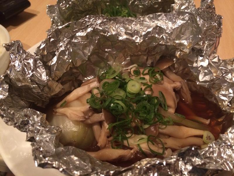 鮭白子のホイル焼き