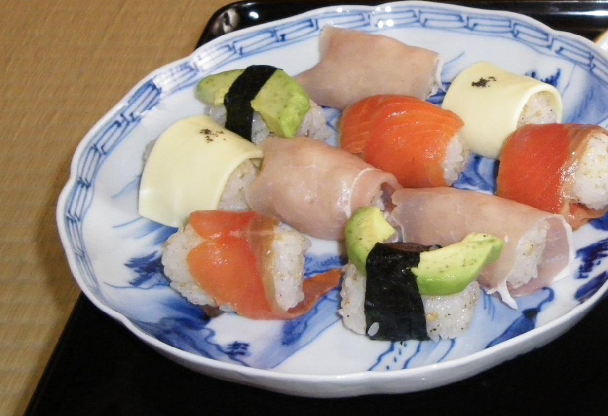 洋風仕立てのお寿司