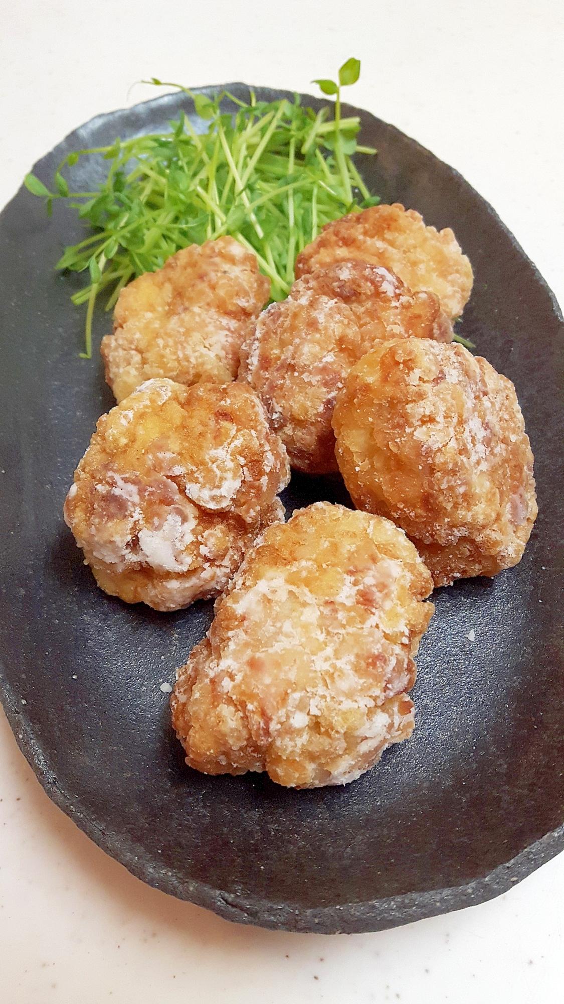 簡単・ヘルシー!豚こま切れ肉と豆腐の和風ナゲット♪ レシピ・作り方 by acchan66|楽天レシピ