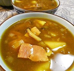 カレールーでカレースープ