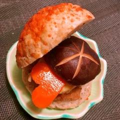 ポテトと椎茸の中華風オイスターハンバーガー