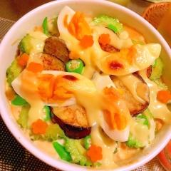 夏野菜たっぷりのクリーミィカレー×トマトドリア