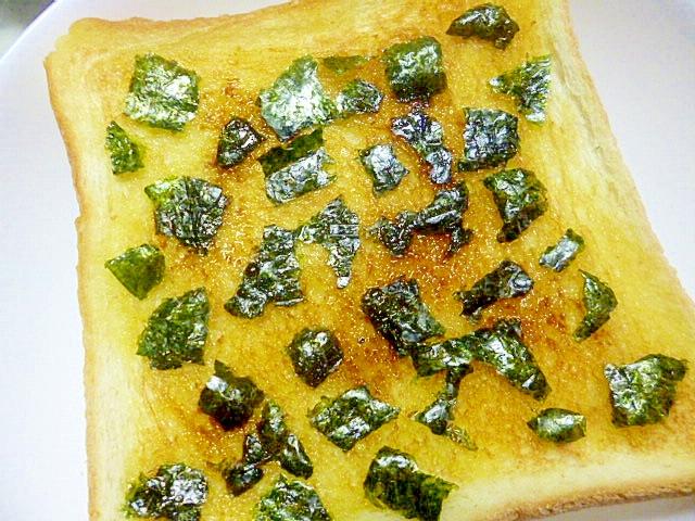 簡単♪アレンジ♪朝ごパン♪はちみつと海苔のトースト