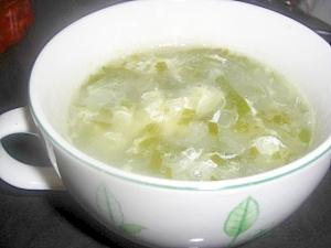 めかぶのコンソメスープ