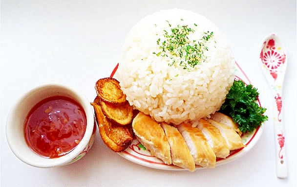 炊飯器でシンガポールチキンライス