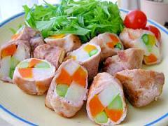 彩りキレイな野菜の肉巻き