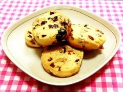 サクサクで甘さ控えめ!ドライフルーツクッキー