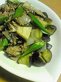 夏野菜とひき肉のしぐれ煮