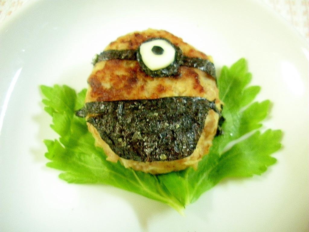 お弁当に★ハンバーグでミニオン★