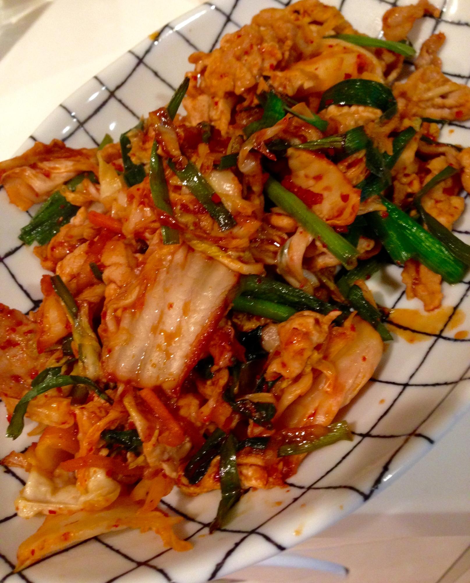 ニラとキャベツ入りの豚キムチ レシピ・作り方
