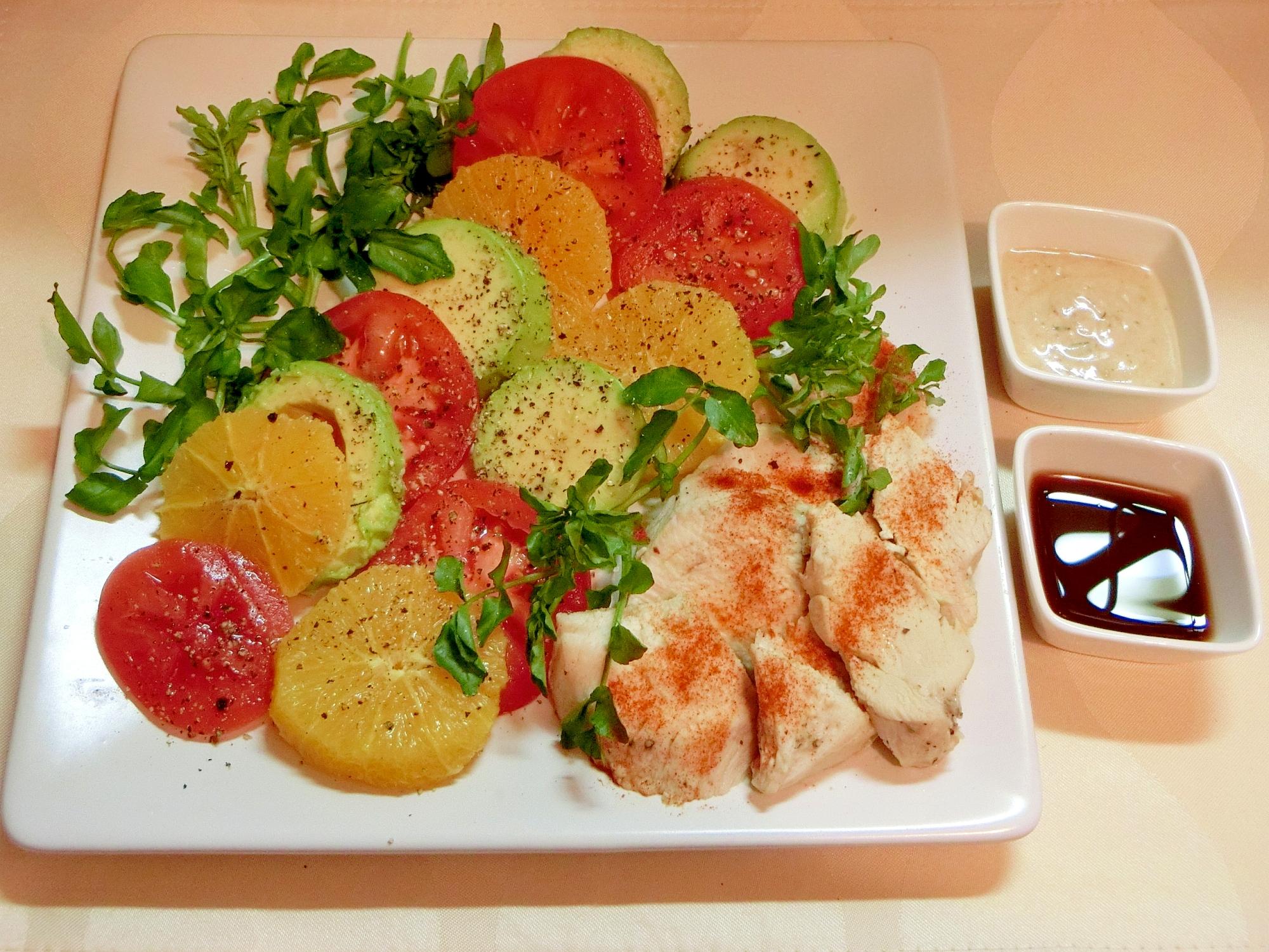 鶏胸肉と野菜の前菜