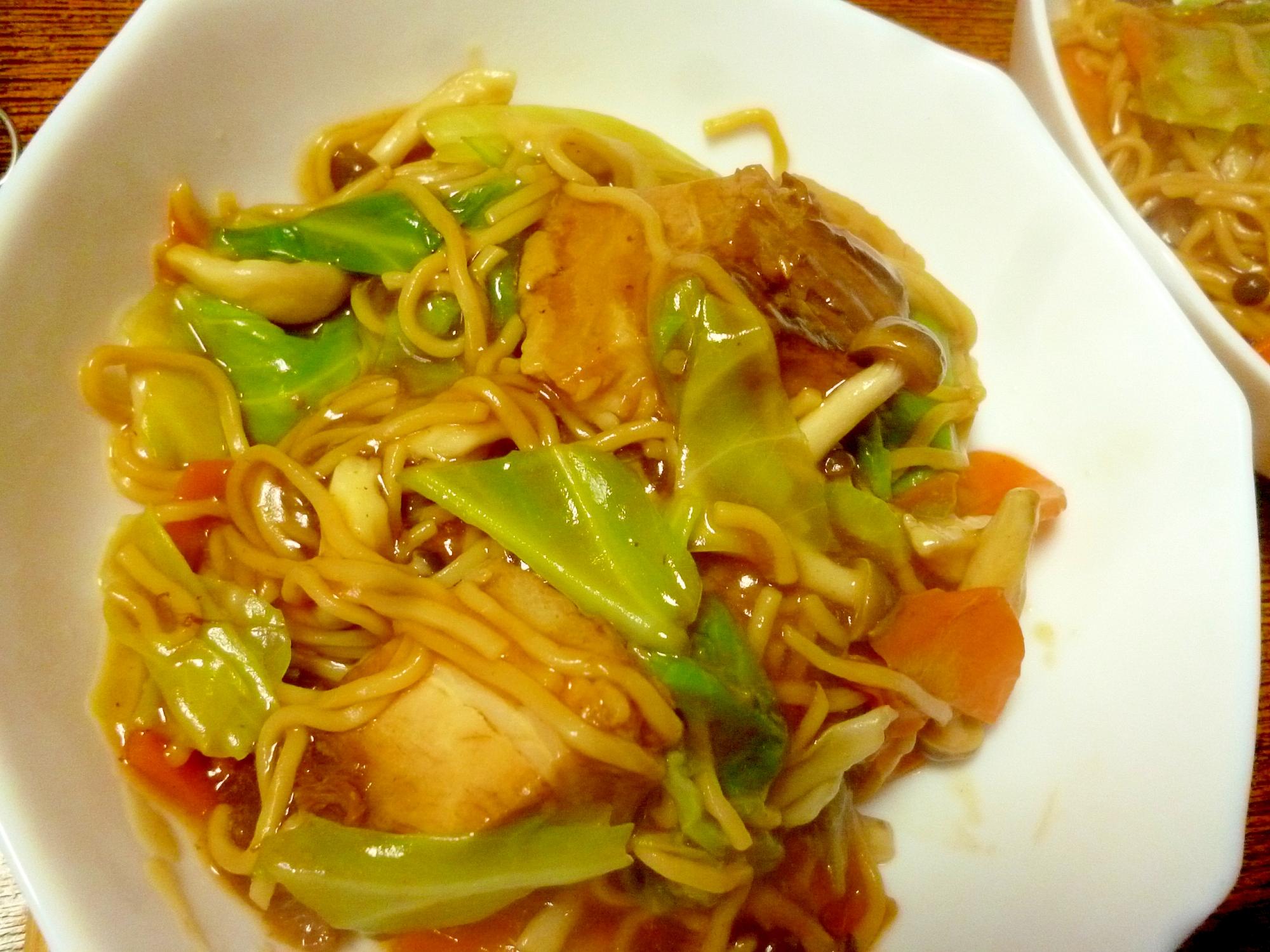 あんかけ焼きそば風とろみ野菜麺