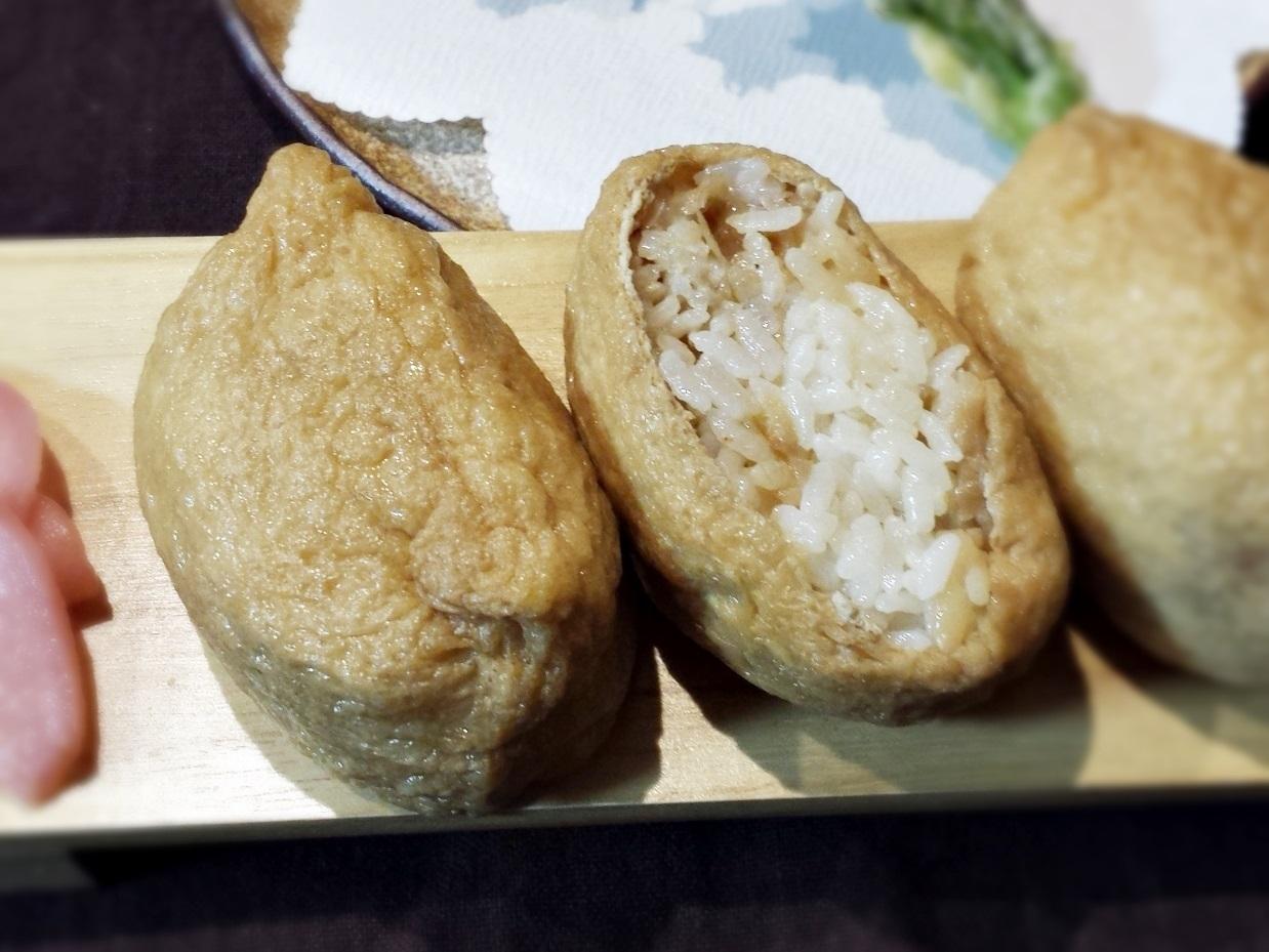 かんぴょうと干し海老の稲荷寿司