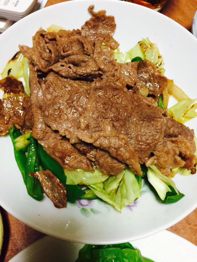 すき焼き肉で焼肉 レシピ・作り方