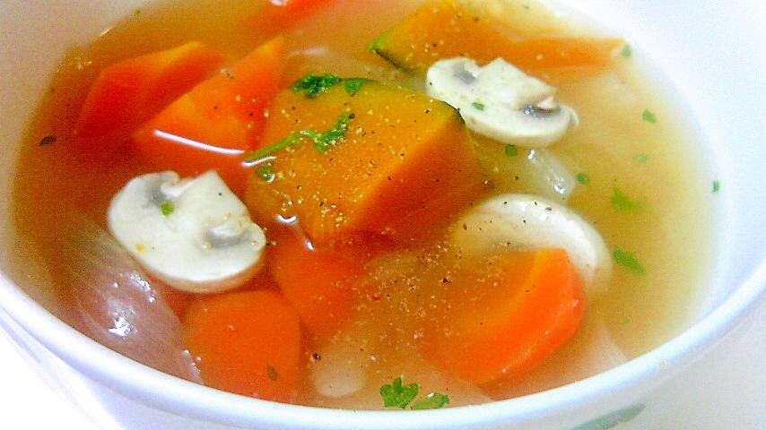 マッシュルームと野菜のスープ