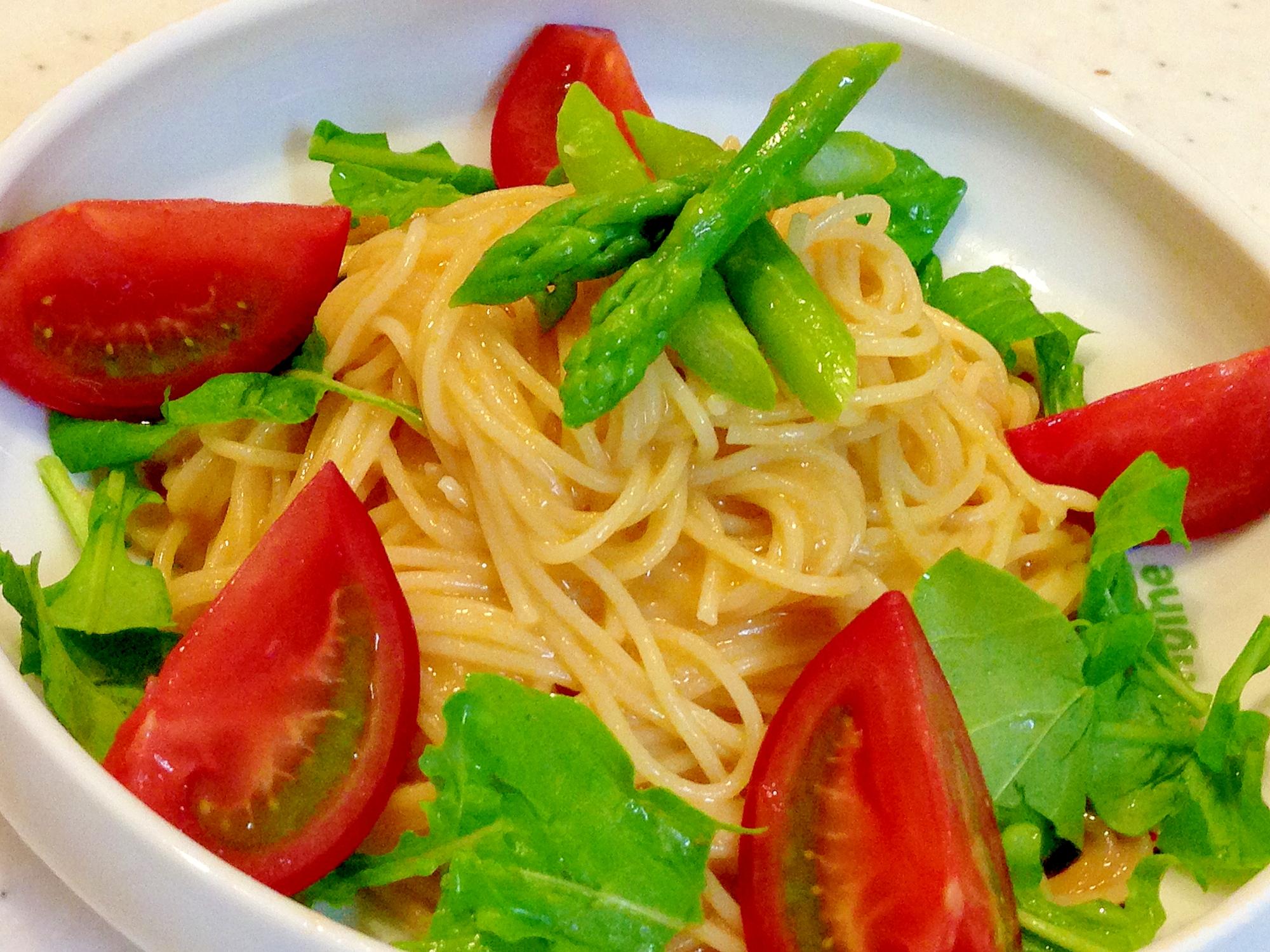 夏にひんやり☆ウニとアメーラトマトの冷製パスタ