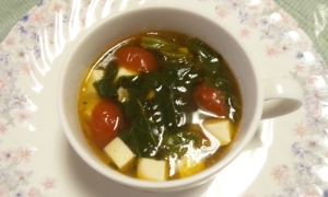ストック食材で簡単に~中華風おかずスープ