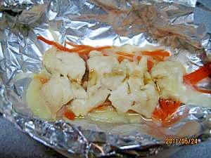 ヘルシー鶏胸肉のホイル焼き