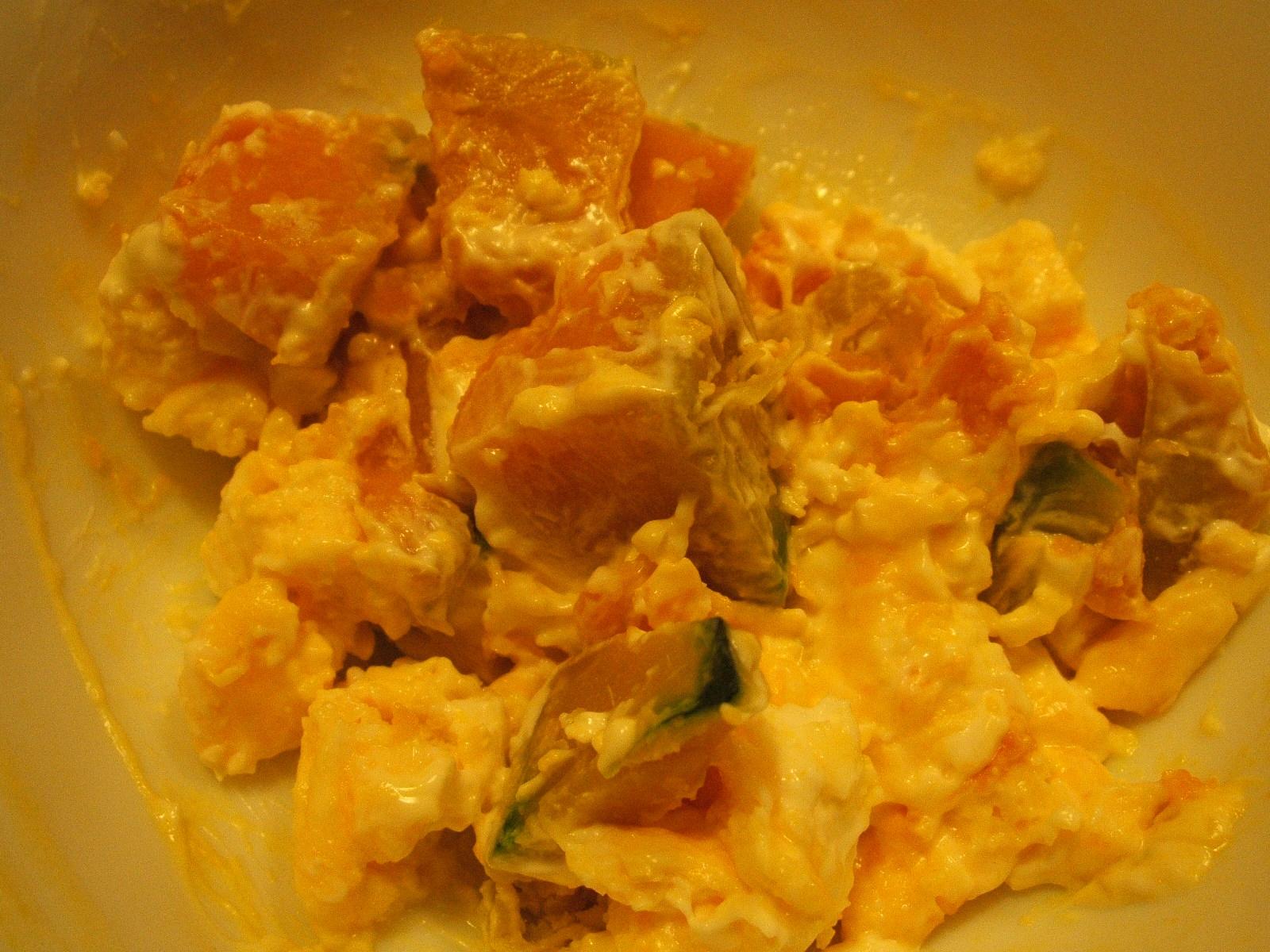 かぼちゃと卵とクリチのサラダ