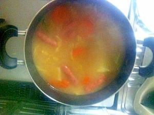 具だくさん味噌スープ
