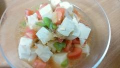 そらまめとトマトの和風サラダ