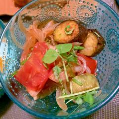 白菜キムチで爽やかに辛い夏野菜のマリネ