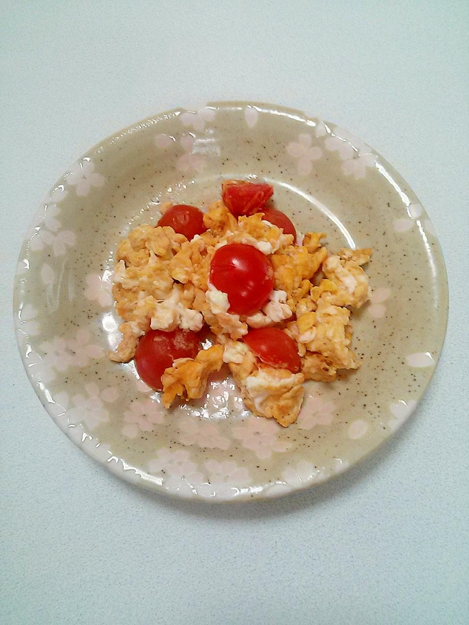 ミニトマト炒り卵