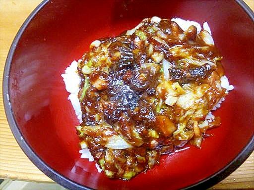 白菜ベーコン丼/味噌餡かけピリ辛