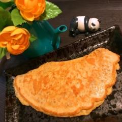 ぷちぷち蕎麦米の蕎麦粉オムレツ