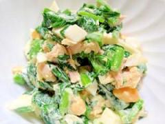 マヨラーのほうれん草と卵の簡単サラダ♪