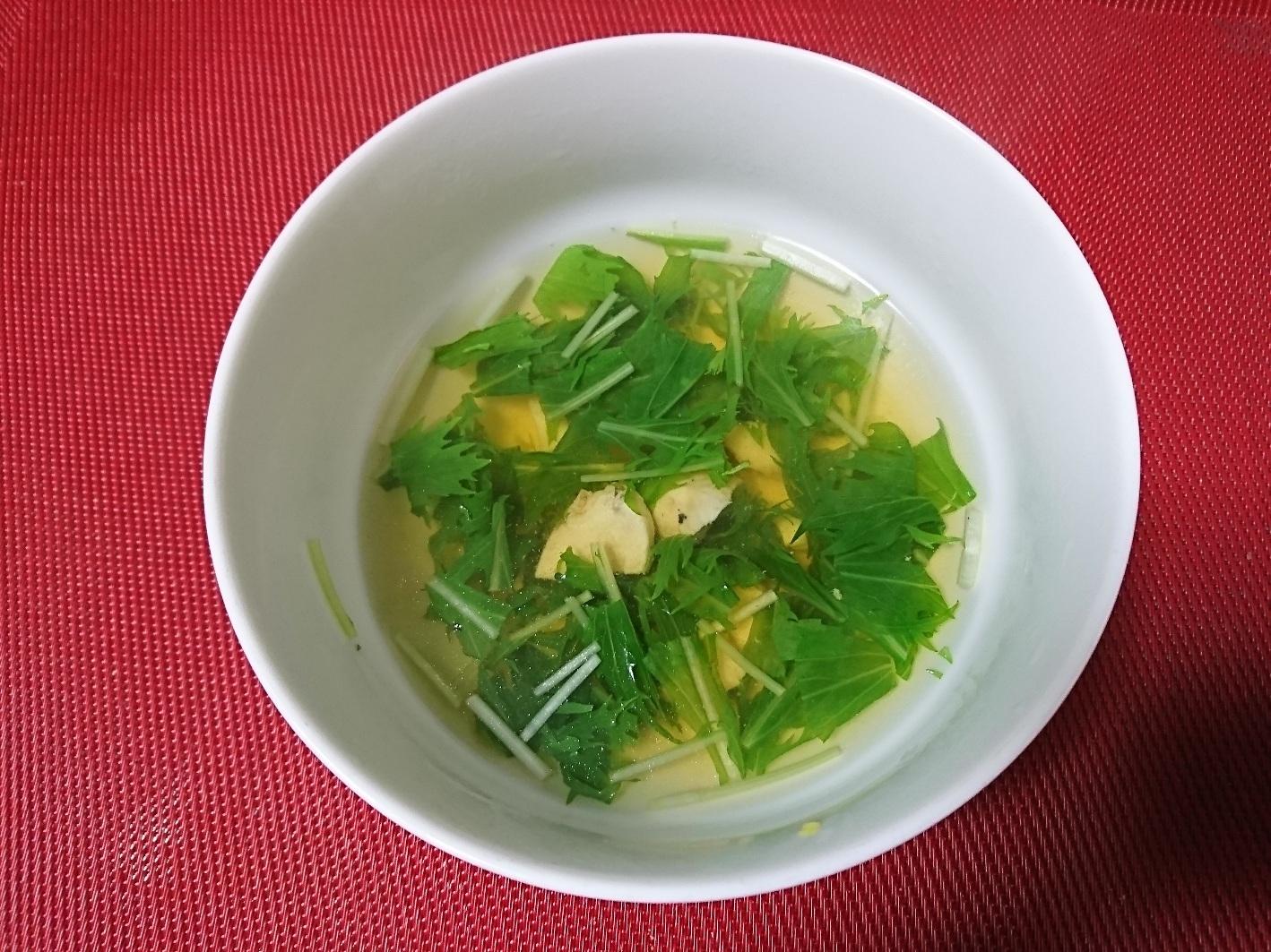 4. 鶏肉と水菜の簡単スープ