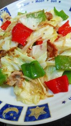 シャキッと簡単☆カラフル野菜炒め