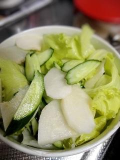 二十世紀梨のサラダ