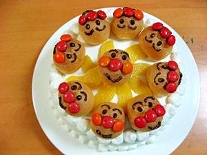 アンパンマンがいっぱいのバースディケーキ
