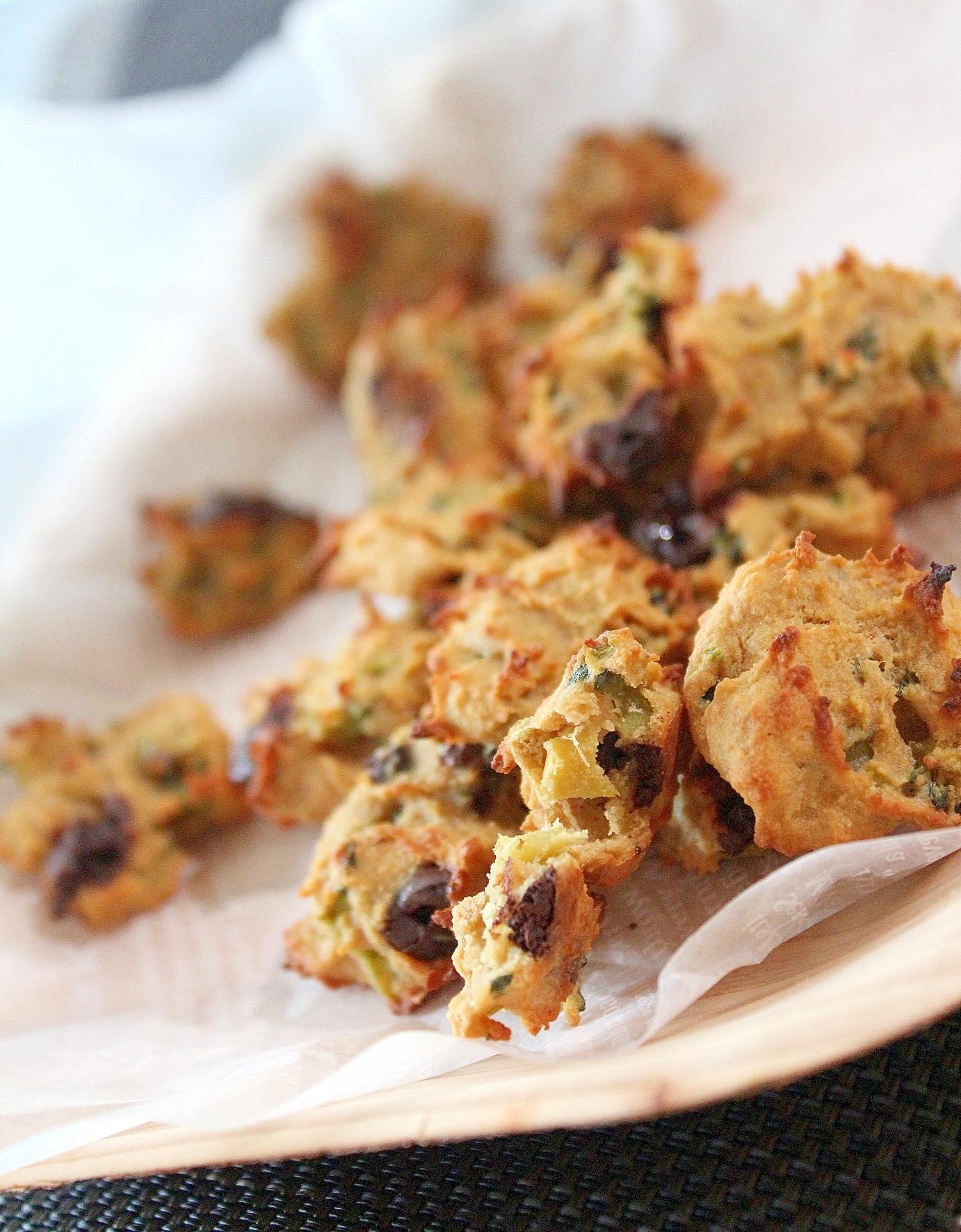 ゴーヤマリネとカカオの簡単ピーナッツクッキー