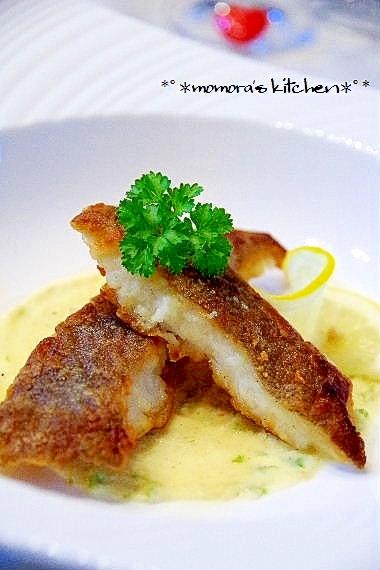 魚料理に簡単レモンバタークリームソース♪