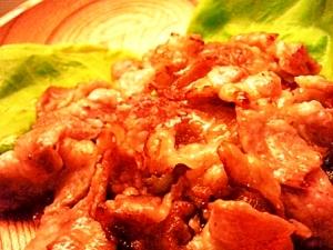 豚肉の味噌風味焼き