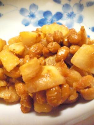 コロコロかぶと納豆の麺つゆラー油炒め