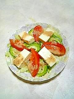☆ゴーヤと豆腐の胡麻ドレサラダ☆