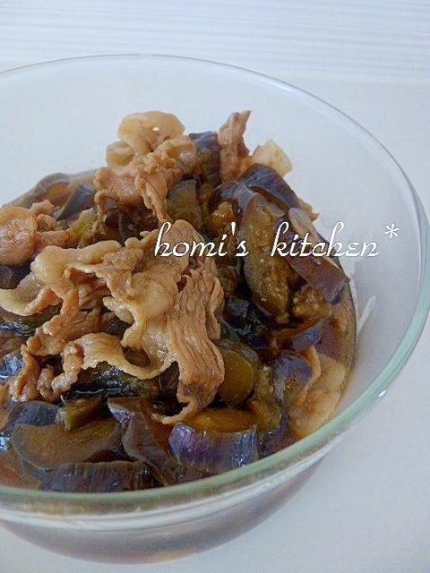 冷たい麺類も合う!茄子と豚肉で常備菜