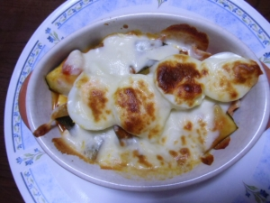 ラタトゥイユのチーズ焼き