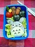 中トトロ&クロスケ★キャラ弁