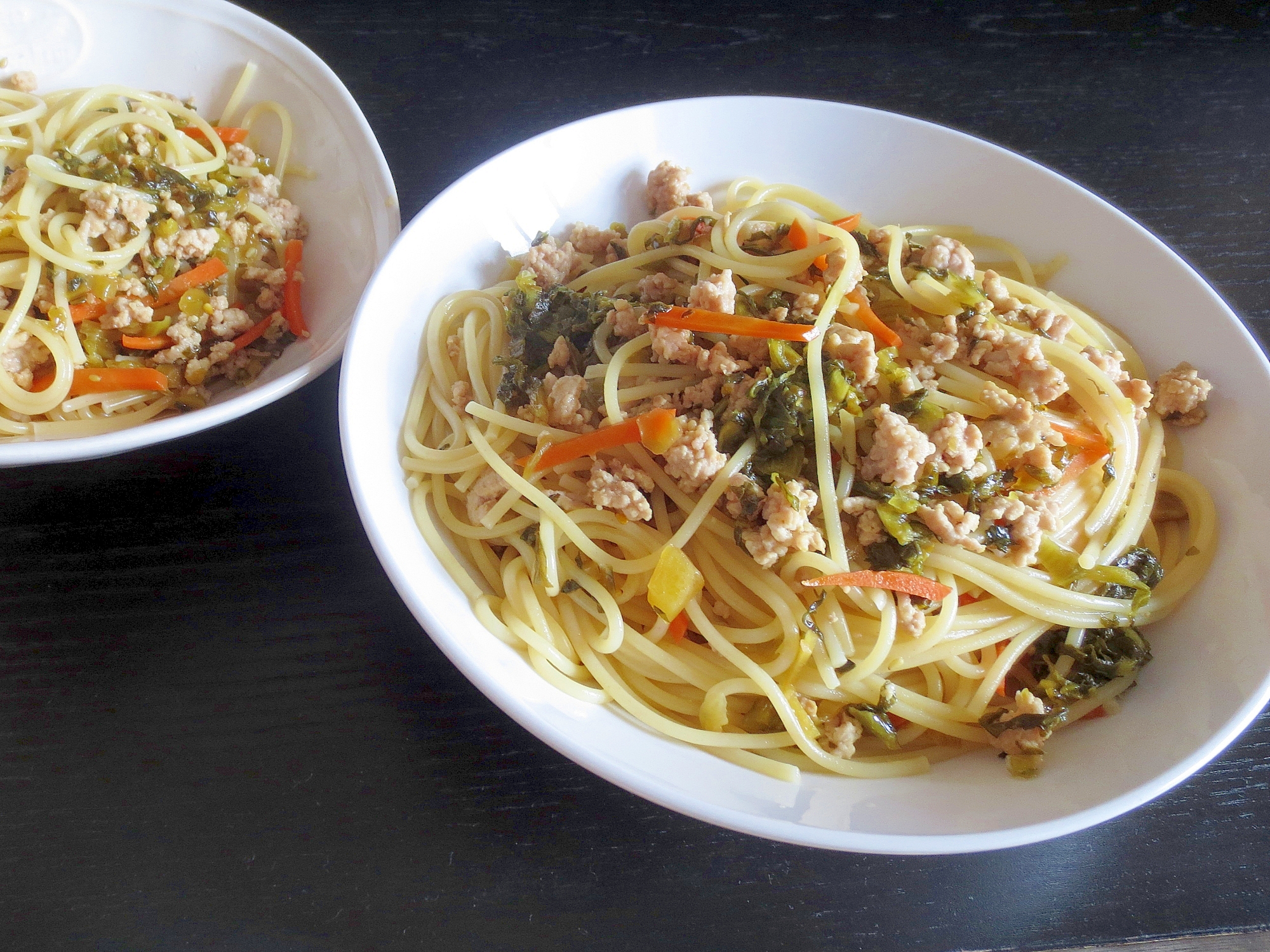 6. さっぱり和風 高菜スパゲッティ