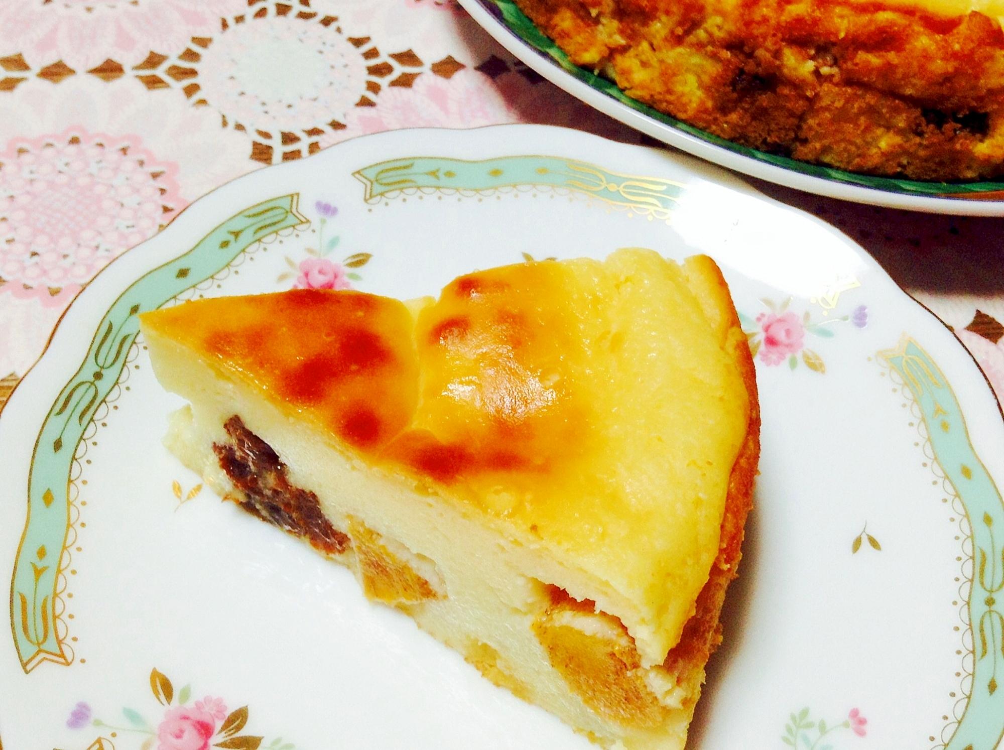 6. 柿とレーズンのチーズケーキ風